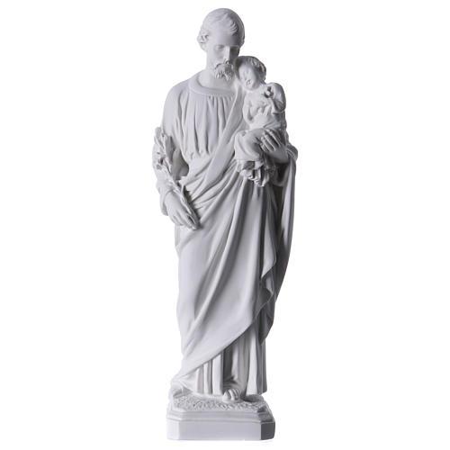 Saint Joseph Statue in Reconstituted Carrara Marble 30-40 cm 1