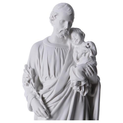 Saint Joseph Statue in Reconstituted Carrara Marble 30-40 cm 2