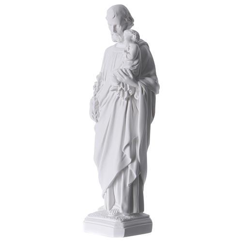 Saint Joseph Statue in Reconstituted Carrara Marble 30-40 cm 3