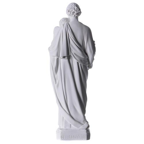 Saint Joseph Statue in Reconstituted Carrara Marble 30-40 cm 5