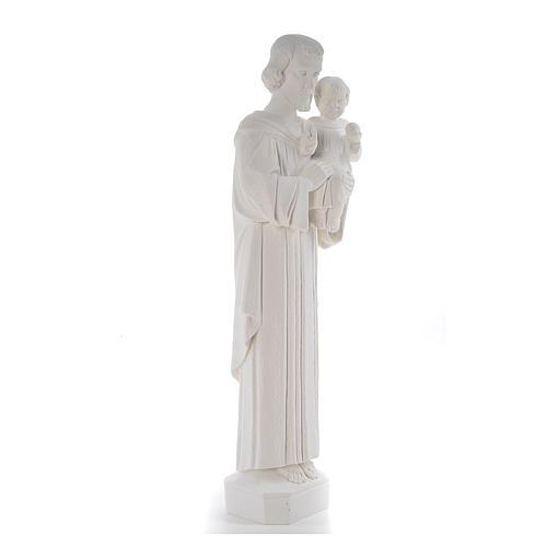 Saint Joseph 65 cm Reconstituted Carrara Marble Statue 4