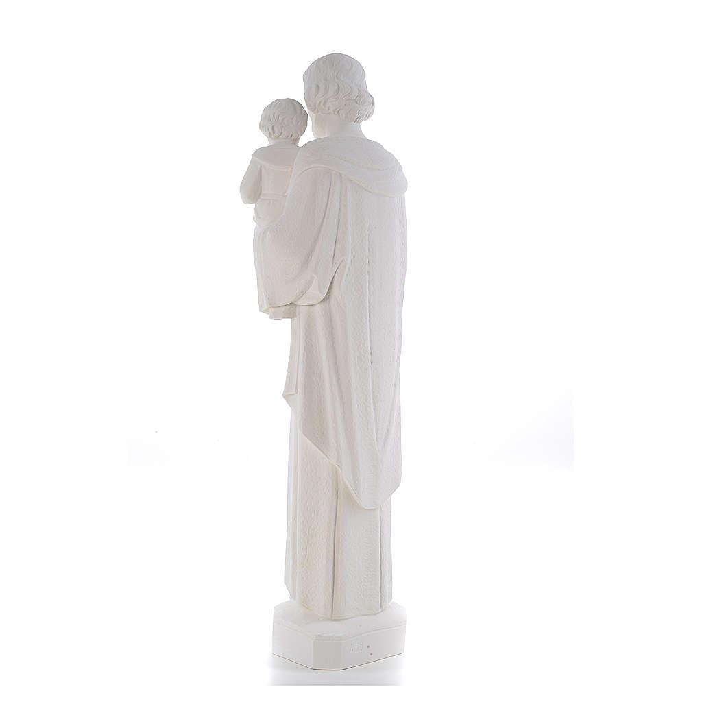 Statua San Giuseppe 65 cm marmo bianco 4