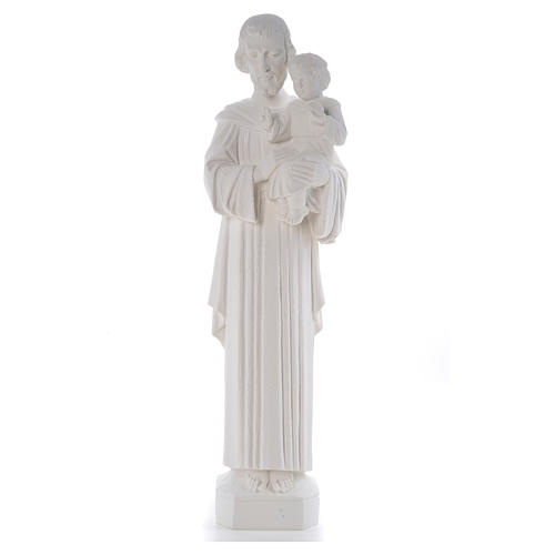 Statua San Giuseppe 65 cm marmo bianco 5