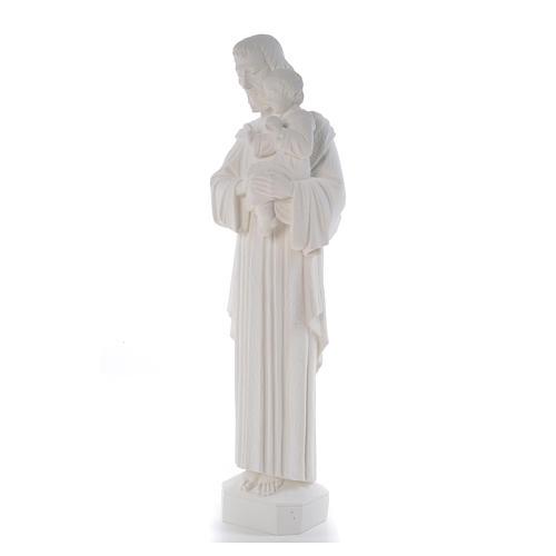 Statua San Giuseppe 65 cm marmo bianco 6