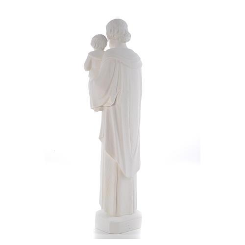 Statua San Giuseppe 65 cm marmo bianco 7