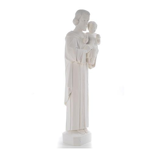 Statua San Giuseppe 65 cm marmo bianco 8