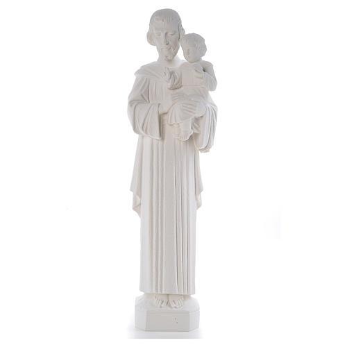 Statua San Giuseppe 65 cm marmo bianco 1