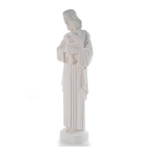 Statua San Giuseppe 65 cm marmo bianco 2