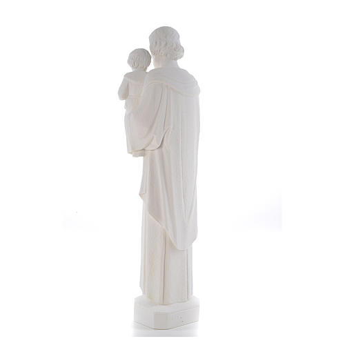 Statua San Giuseppe 65 cm marmo bianco 3