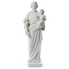 Heiliger Joseph Marmorpulver Statue Weiß 100 cm s1