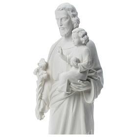 Heiliger Joseph Marmorpulver Statue Weiß 100 cm s2