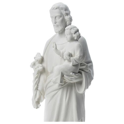 Heiliger Joseph Marmorpulver Statue Weiß 100 cm 2