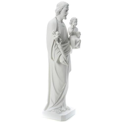 Heiliger Joseph Marmorpulver Statue Weiß 100 cm 4