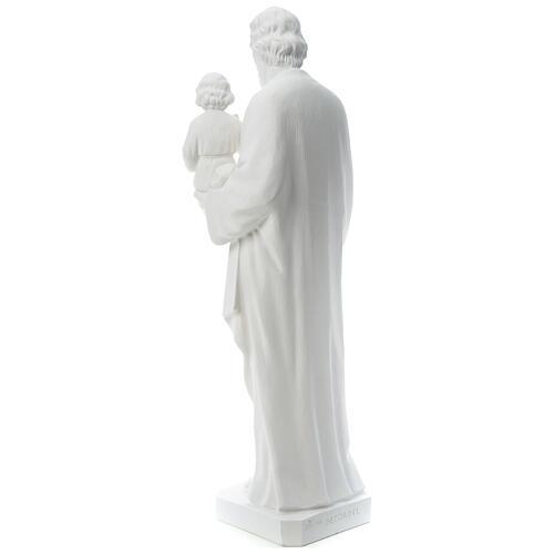 Heiliger Joseph Marmorpulver Statue Weiß 100 cm 5