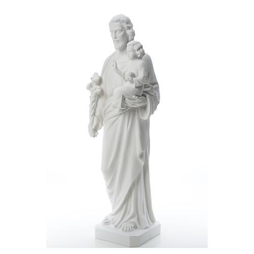 Saint Joseph Statue in Reconstituted Carrara Marble 100 cm 6