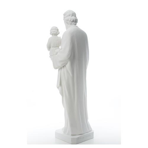 Saint Joseph Statue in Reconstituted Carrara Marble 100 cm 7