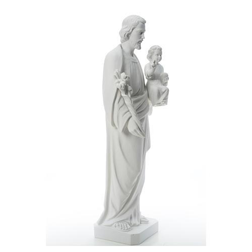 Saint Joseph Statue in Reconstituted Carrara Marble 100 cm 8
