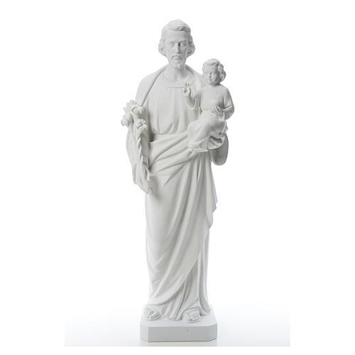 Saint Joseph Statue in Reconstituted Carrara Marble 100 cm 1