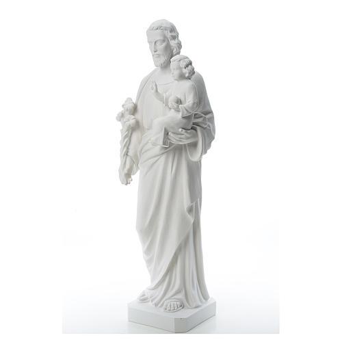 Saint Joseph Statue in Reconstituted Carrara Marble 100 cm 2
