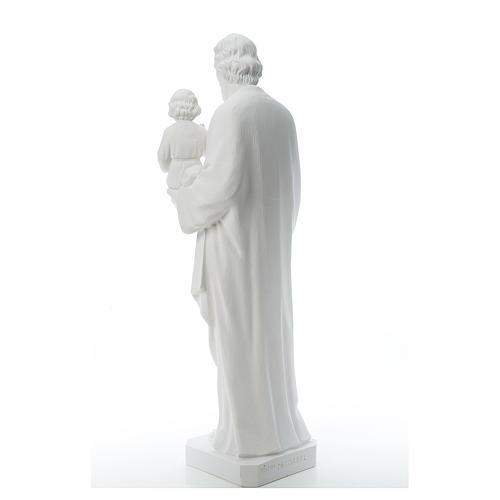 Saint Joseph Statue in Reconstituted Carrara Marble 100 cm 3