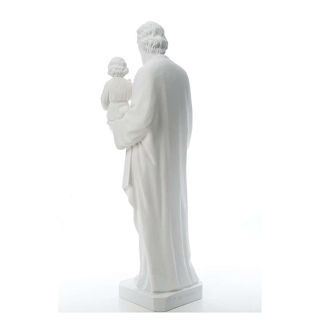 San Giuseppe polvere di marmo bianco 100 cm 4