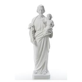 San Giuseppe polvere di marmo bianco 100 cm s5