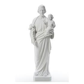San Giuseppe polvere di marmo bianco 100 cm s1