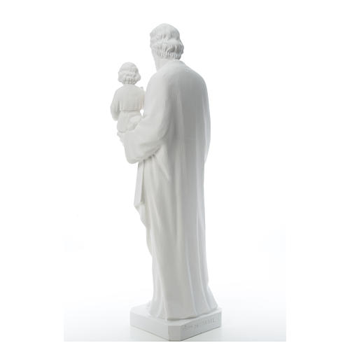 San Giuseppe polvere di marmo bianco 100 cm 7