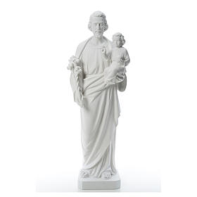 Imagens em Pó de Mármore de Carrara: São José pó de mármore branco 100 cm