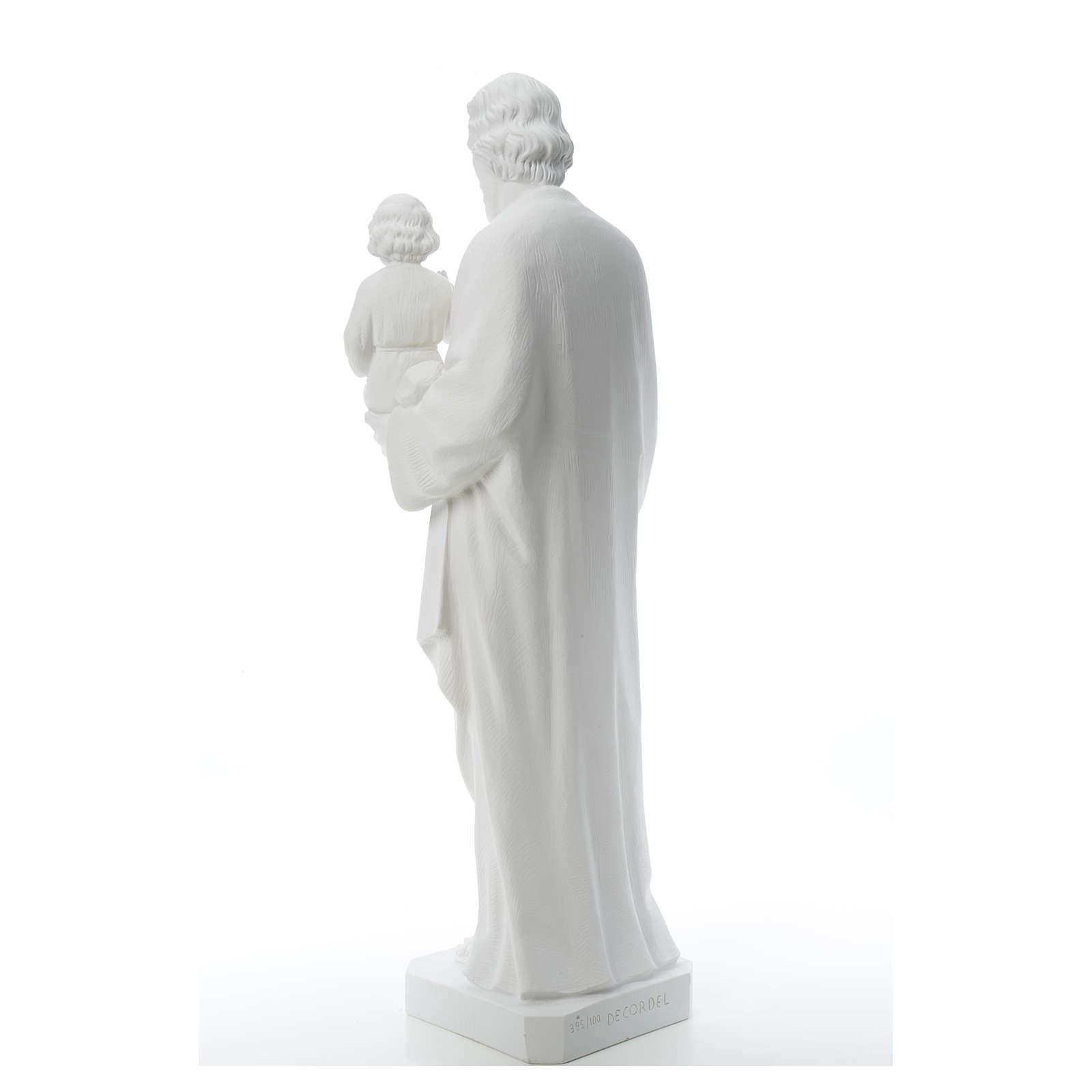 Saint Joseph Statue in Composite Carrara Marble 100 cm 4