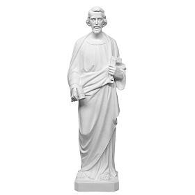 Saint Joseph the joiner, reconstituted marble statue, 100 cm s2