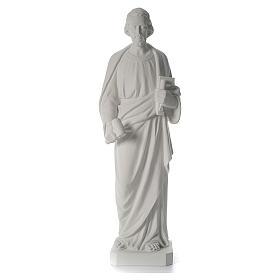 Saint Joseph the joiner, reconstituted marble statue, 100 cm s3