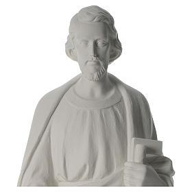 Saint Joseph the joiner, reconstituted marble statue, 100 cm s4