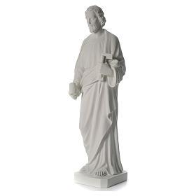 Saint Joseph the joiner, reconstituted marble statue, 100 cm s5