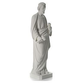 Saint Joseph the joiner, reconstituted marble statue, 100 cm s7
