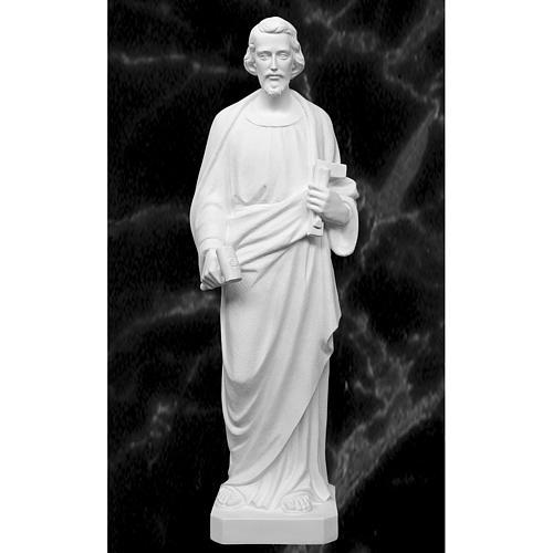 Saint Joseph the joiner, reconstituted marble statue, 100 cm 1