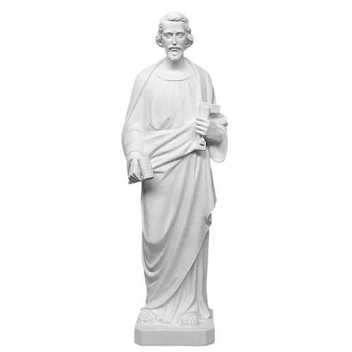 Saint Joseph the joiner, reconstituted marble statue, 100 cm 2