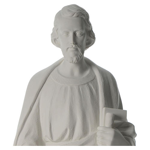 Saint Joseph the joiner, reconstituted marble statue, 100 cm 4