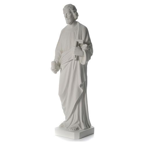 Saint Joseph the joiner, reconstituted marble statue, 100 cm 5