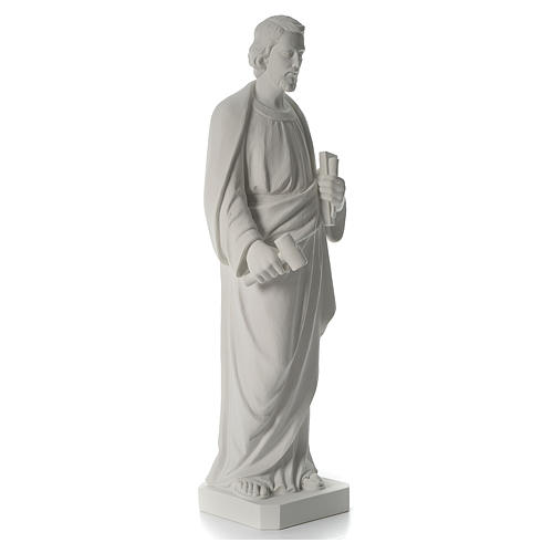 Saint Joseph the joiner, reconstituted marble statue, 100 cm 7
