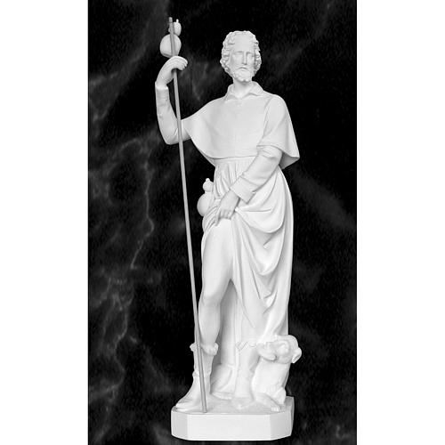 Saint Roch with dog, 100 cm statue in reconstituted marble 1