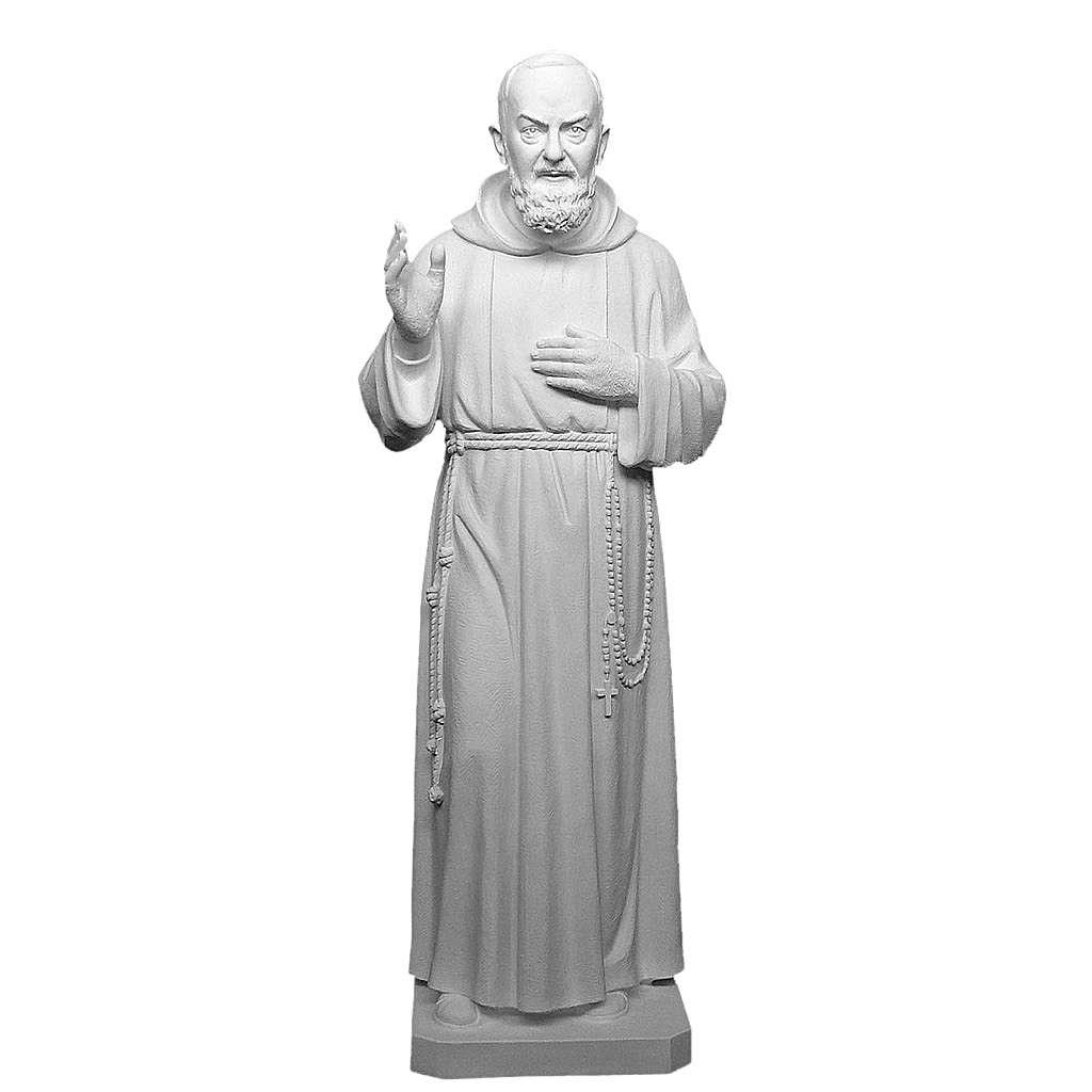 Père Pio 175 cm fibre de verre blanche 4