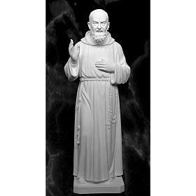 Père Pio 175 cm fibre de verre blanche s1