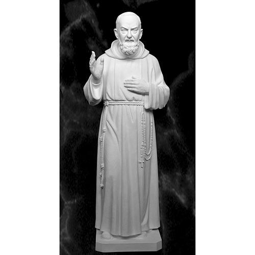 Père Pio 175 cm fibre de verre blanche 1