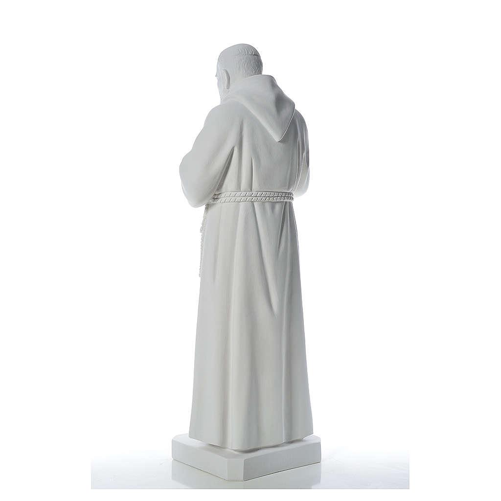Padre Pio statue in reconstituted Carrara marble, 110 cm 4