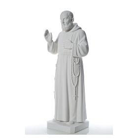 Padre Pio statue in reconstituted Carrara marble, 110 cm s6