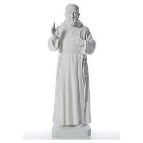 Padre Pio statue in reconstituted Carrara marble, 110 cm s1