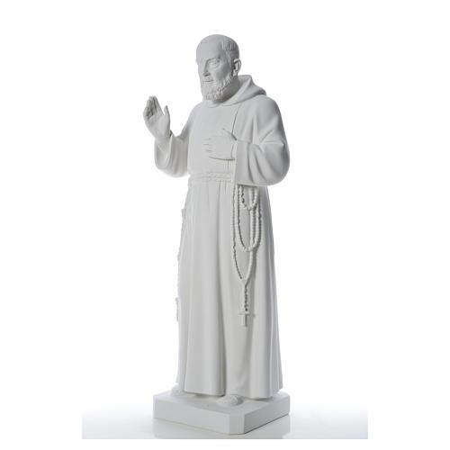 Padre Pio statue in reconstituted Carrara marble, 110 cm 6