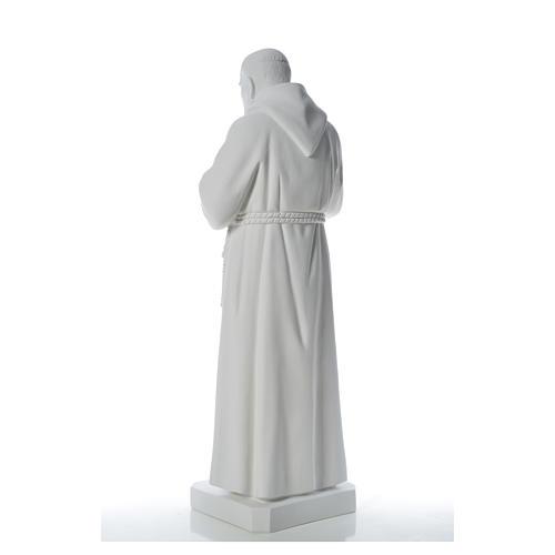 Padre Pio statue in reconstituted Carrara marble, 110 cm 7