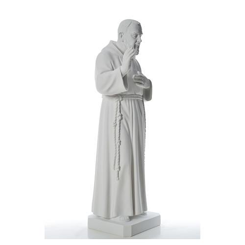Padre Pio statue in reconstituted Carrara marble, 110 cm 8